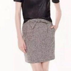 J Crew Tie Waist Tweed Mini Skirt